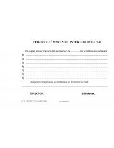 C130 Cerere de împrumut înterbibliotecar