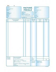 P022 Factura fiscala cu TVA (format A4, 50 seturi autocopiative 3x exemplare)