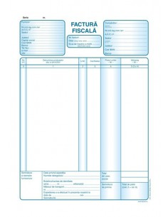 P023 Factura fiscala fara TVA (format A4, 50 seturi autocopiative, 3x exemplare)