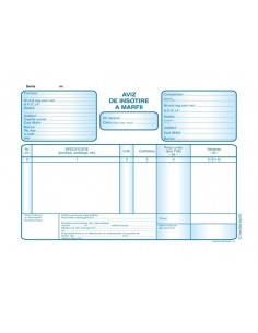 P025 Aviz de insotire a marfii (format A5, 50 seturi autocopiative, 3x exemplare)