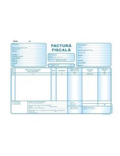 P026 Factura fiscala cu TVA (format A5, 50 seturi autocopiative, 3x exemplare)
