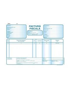 P027 Factura fiscala fata TVA (format A5, 50 seturi autocopiative, 3x exemplare)
