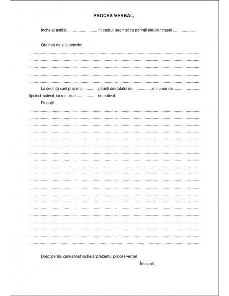 SS42 Registru pentru procese verbale sedinte cu parintii - coperta duplex