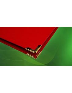 C155 Montare set 4 coltari auri pentru coperti carton invelite cu hartie pentru arhiva si coperta invelita cu imitatie piele