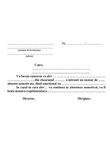 C054 Adresa (de instiintare a...