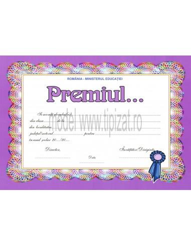 D007b Diploma de acordare a premiului