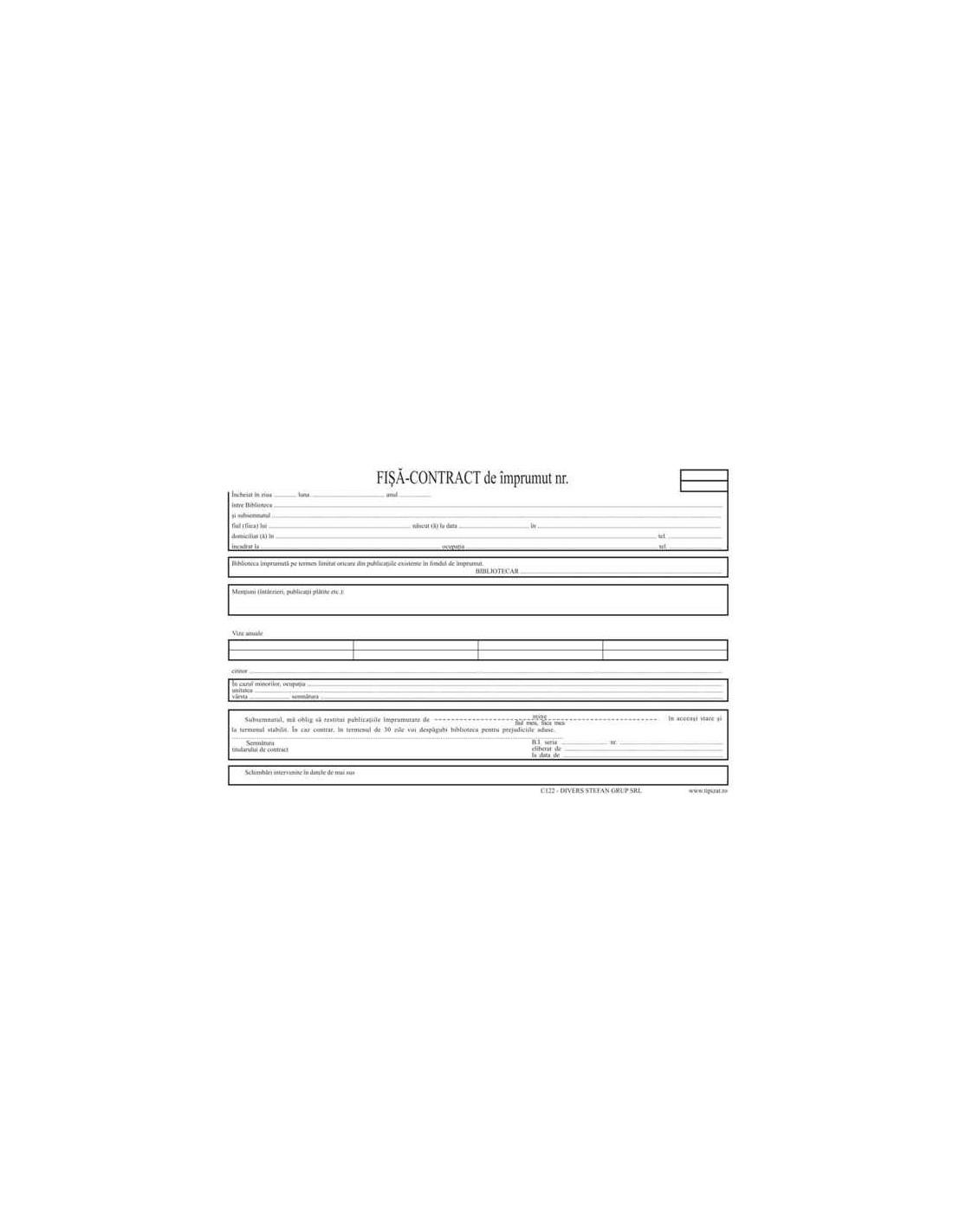 Contract de împrumut