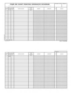 P016 Fisa de cont pentru operatii diverse