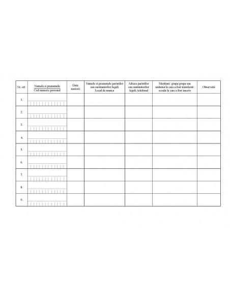 C003 Registru pentru înscrierea copiilor in gradinita - coperta arhiva