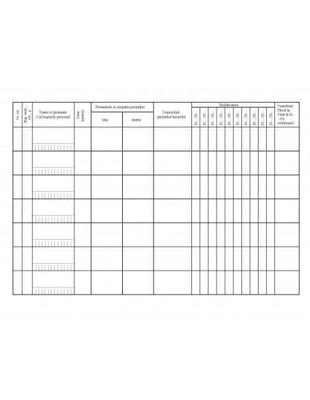 C006 Registru pentru înscrierea si evidenta elevilor - coperta arhiva