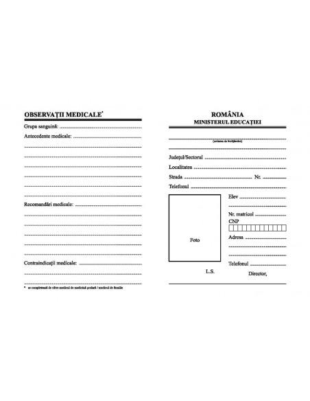 C044 Carnet de elev pentru clasele V-VIII