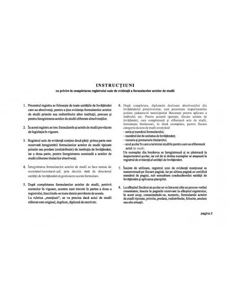 C085 Registru unic pentru licee si grupuri scolare - coperta imitatie piele
