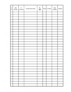 C127 Registru de înscriere a cititorilor - coperta duplex