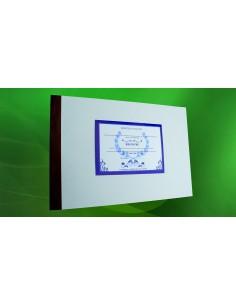 C002 Registru pentru înscrierea - coperta carton subtire (duplex), culoare alba