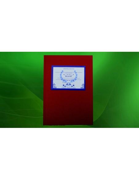 C100 Registru prezenta personal administrativ - coperta imitatie piele