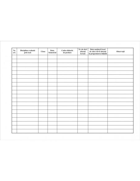 SS05 Registru de planificare generala a tezelor - coperta arhiva