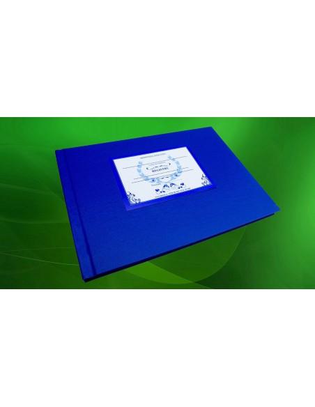 C079a Registru adeverinte absolvire  -  coperta carton gros invelita cu imitatie piele