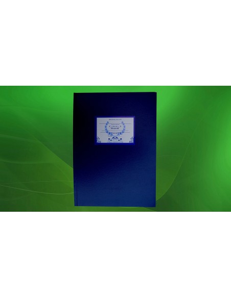 C137 Caiet de evidenta a activitatii bibliotecii - coperta imitatie piele